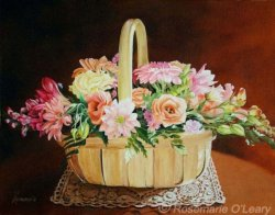 Mum's Birthday Flowers, Oil Painting, SOLD