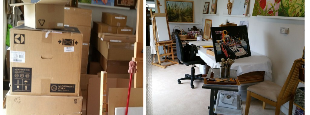 My studio from boxes to having space