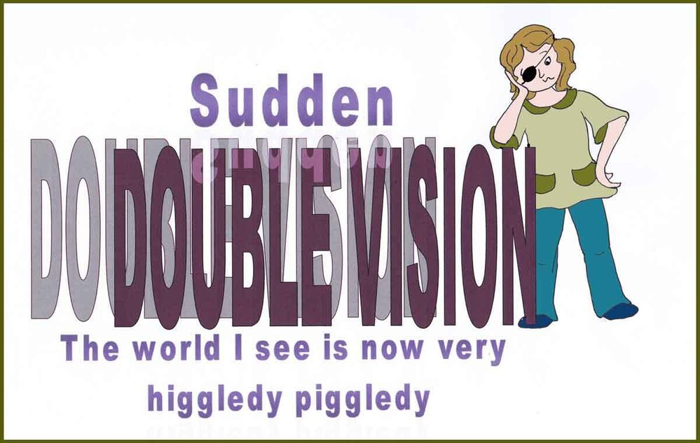 043 sudden double vision is a challenge for an artist