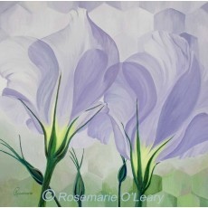 Lisianthus Flower Painting Signed Print