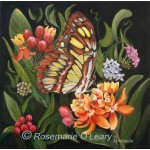 Malachite Butterfly Painting Signed Print